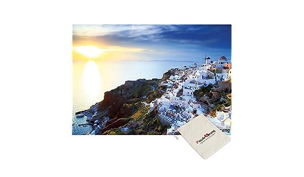 Puzzle Korea Brillando en la Aldea de Oia y el Mar, la Isla de ...