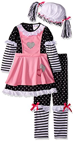California Costumes Rag Dolly Toddler Costume, 4-6 (Toddler Raggedy Ann Costume)