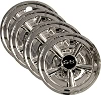 "Golf Cart 8"" SS Hub Caps Wheel Cover Set Of 4"