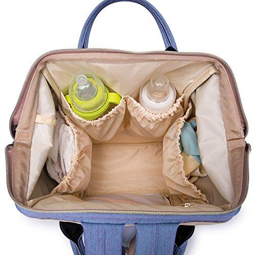 BigForest Mummy - Mochila bolsa de viaje multifunción para pañales con cambiador de pañales de bebé azul marino Talla:talla única Sky Blue