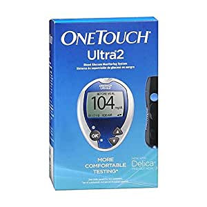 One Touch Ultra2 Blood Glucose Monitoring System, (Pack of 1)
