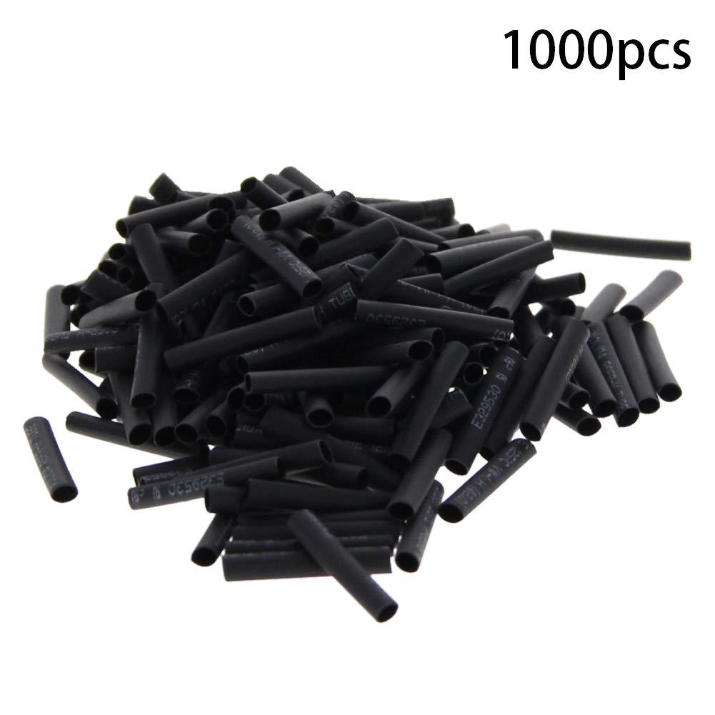 Othmro PE Heat Shrink Tubing 2:1 Insulation Wear-Resistant 1.5mm Dia Red Black 30mm Length 1000pcs