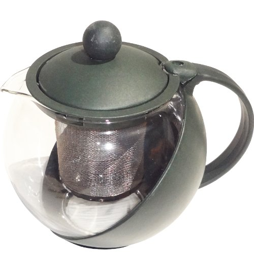 Best Green Glass Teapot 2-1/2-Cup 25 oz with Tea Infuser Tea Strainer - Hot Women Gifts Ideas (Style 1) Best Back to School College Supplies