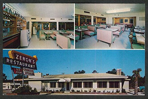 Zenon's Long Bay Restaurant 17th King's Highway Myrtle Beach SC postcard - Bay Myrtle