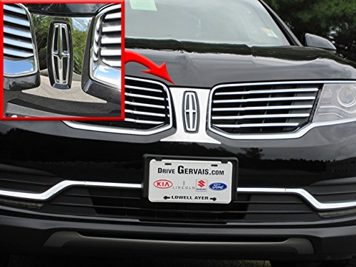 QAA FITS MKX 2016-2018 LINCOLN (1 Pc: Stainless Steel Front Grill Accent Trim, 4-door, SUV) SG56660
