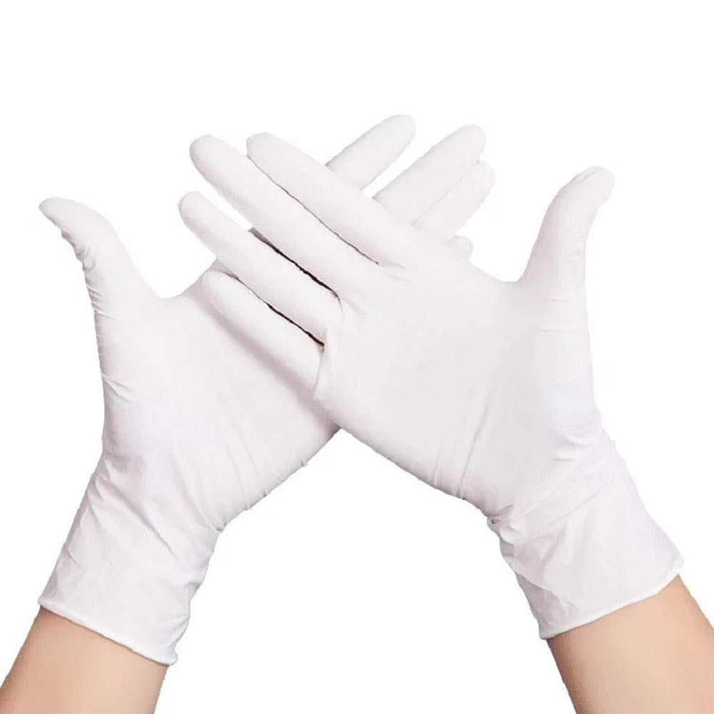 SuperTouch Latex Disposable Fine Gloves Powdered Or Powder Free Non Sterile Industrial Clinical Medical Tough Strong Protection White Size High Quality Powder Free, 1 Box, M