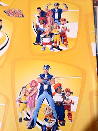 Lazy Town Stephanie Sportacus Wrapping Wrap Paper 2-Sheets Party Gift Decoration -