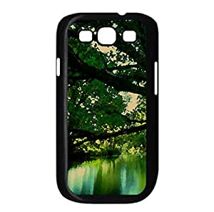 Green Lake Watercolor style Cover Samsung Galaxy S3 I9300 Case (Lakes Watercolor style Cover Samsung Galaxy S3 I9300 Case)