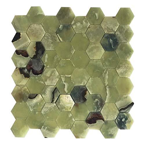 Green Meadow Onyx Hexagon Mosaic ()