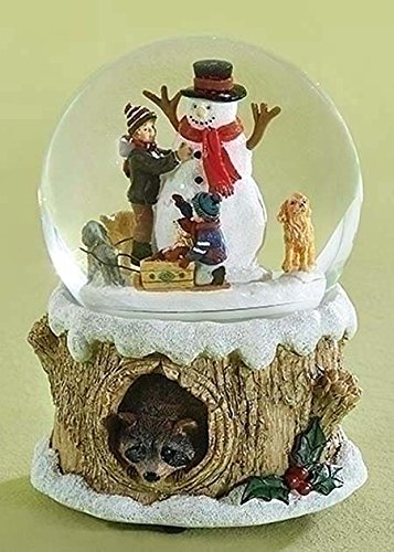 (Kensington Row Christmas Collection Snow Globes - Snow Day Friends Rotating Musical Snow Globe - Snowman Snowglobe )