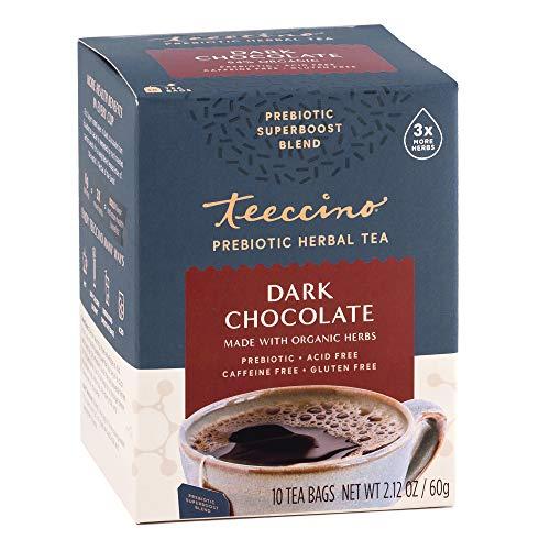 Teeccino Prebiotic SuperBoost™ Herbal Tea – Dark Chocolate – Support Your Probiotics with Vegan GOS & Organic XOS For…