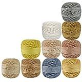 Lot of 10 Pcs Multicolor Cotton Crochet Thread Cross Stitch Knitting Handicrafter Balls Yarn Tatting Doilies Skeins Lacey Craft