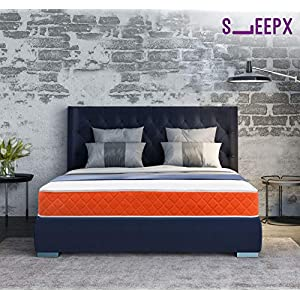 SleepX Dual Comfort Mattress- Medium Soft & Hard (Orange, 78x60x5)