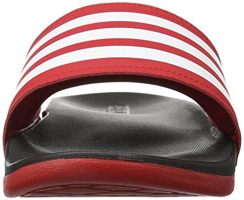 adidas Performance Damen Adilette CF Ultra Streifen C W Athletic Sandale Scharlachrot / Weiß / Schwarz