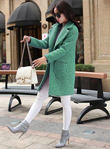 Abrigo Capa Invierno WanYang Mujer Abrigos Lana Jacket Verde Parka de Grueso Mujeres Elegante Chaqueta Ezqxp1zB