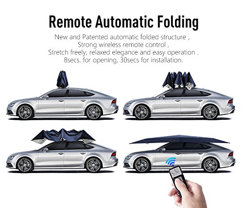 car tent carport with remote control folded portable automobile protection umbrella sunproof car. Black Bedroom Furniture Sets. Home Design Ideas