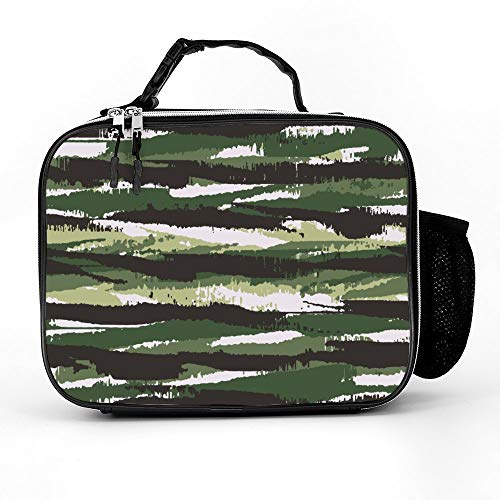 Atunme Lunch Bag With Grassland Wetland Marsh Landscape Reflection Insulated Lunch Bag Tote Durable Thermal Lunch Cooler Pack With Strap For Boys Men Women - Wetlands Fabric Advantage