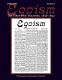 Egoism: The First Two Volumes 1890-1892: Volume 8