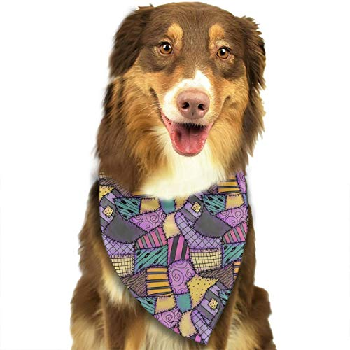 ANYWN Pet Dog Bandanas Sally Ragdoll Scraps Triangle Bibs Scarfs Accessories for Puppies Cats Pets Animals Large Size ()