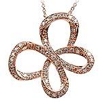 10K Rose Gold 1/2cttw Jessica Simpson Diamond Butterfly Pendant