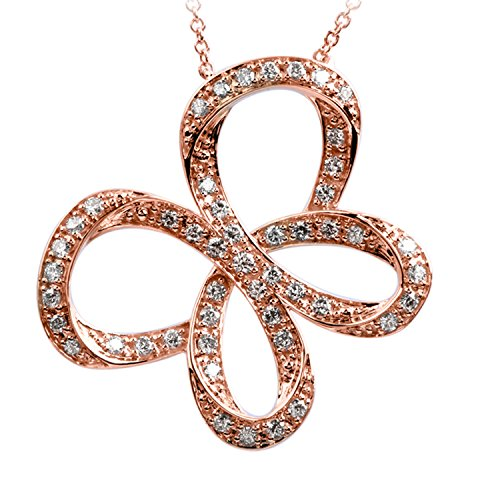 - Jessica Simpson 10K Rose Gold 1/2cttw Diamond Butterfly Pendant