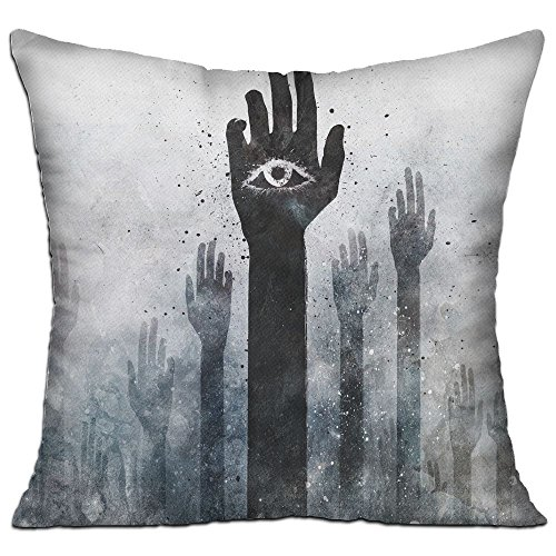 Grunge Hands Illuminati Alex Cherry Arms Raised Square Cotton Linen Sofa Cushion Covers Decorative Home Zippered Custom Throw Pillow 18 X 18 Inch(contain Pillow (Alex Sofa)