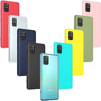 Oududianzi 9 x Funda para Samsung Galaxy A51, Cárcasa Silicona TPU, Funda Ultra-Delgado Flexible: Amazon.es: Electrónica