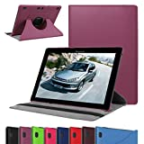 """Lenovo Tab 2 A10 Rotating Case,Mama Mouth 360 Degree Rotary Stand Cover For 10.1"""" Lenovo Tab 2 A10-70L / A10-70F Andriod Tablet,Purple"""
