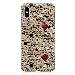Loud Universe Case for iPhone XS Wrap around Edges Love Pattern Valentine Love Letter Rugged Durable Sleek Low Profile iPhone XS Cover