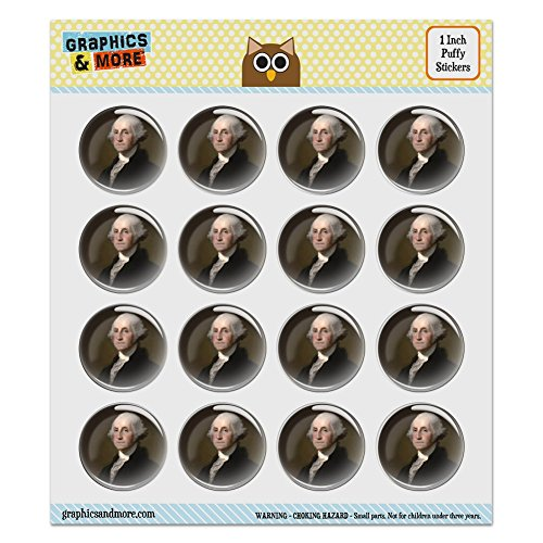 Puffy Bubble Dome Scrapbooking Crafting Stickers - George Washington Portrait - Set of 16-1.0