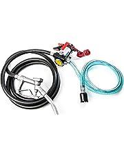 Biltek 12v Fuel Transfer Pump 10 GMP w/Suction Hose and Fuel Pump Nozzle - Diesel Fuel, Biodiesel, Kerosene, Light Fuel Oils