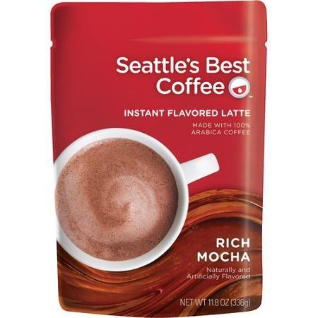 Seattles Best Coffee Instant Flavored Latte Rich Cafe Mocha - Single Bag 11.8oz ...