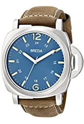 Breda Men's 1654A Watch with Brown Genuine Leather Band