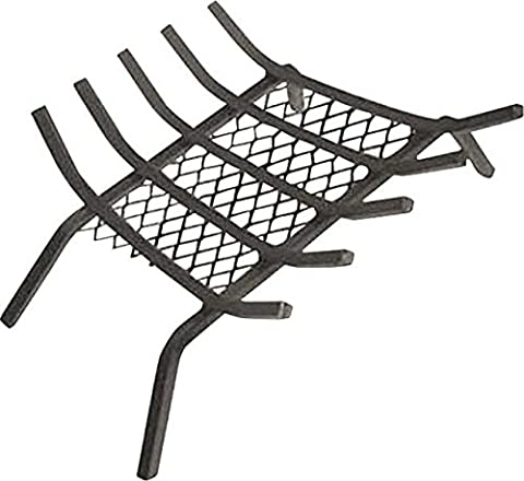 "Rocky Mountain Goods Fireplace Grate with Ember Retainer - 1/2"" Heavy Duty Cast Iron -Heat treated for hottest fires - Retainer for cleaner more efficient fire - Weld has (Cast Iron Fireplace Grate 27)"
