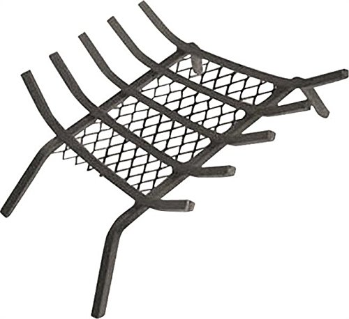 "Ember Grate (Rocky Mountain Goods Fireplace Grate with Ember Retainer - 1/2"" Heavy Duty Cast Iron -Heat treated for hottest fires - Retainer for cleaner more efficient fire - Weld has (27"