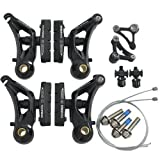 Tektro CR710 Cyclocross Cantilever Brake Set Front & Rear, Black #ST1461_Black
