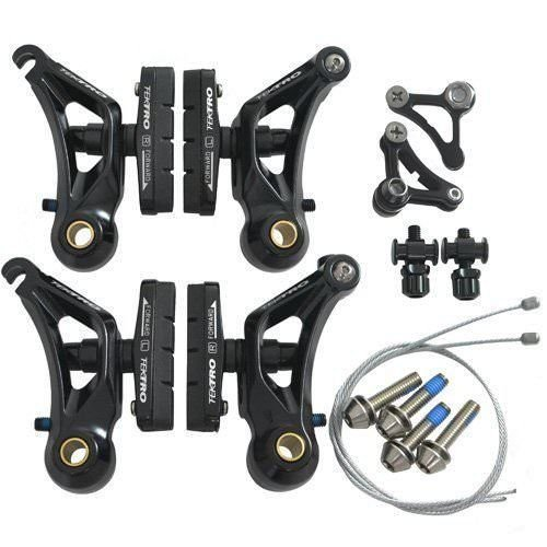 Tektro CR710 Cyclocross Cantilever Brake Set Front & Rear, Black (Cyclocross Cantilever Brakes)