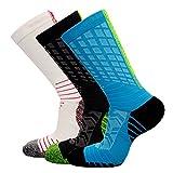 FASTBON Compression Socks 10-20mmHg Men & Women - Best Athletic & Medical Running, Flight, Travel, Blood Circulation & Recovery (1,2, 3, 6 Pair)