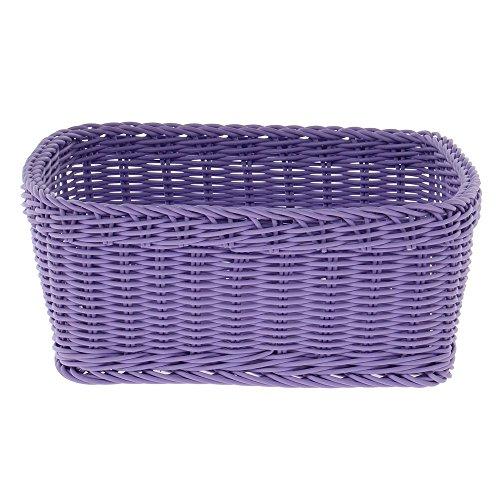 Purple Basket Allergen Awareness Square Plastic Basket - 12'' L x 12'' W x 4 1/2 H by Hubert
