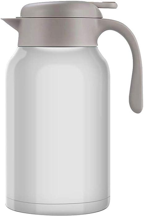 Luvan 18/10 Jarra Térmica Termo, Anti-Goteo, Anti-Quemaduras, La cafetera de Aislamiento, café, (Blanco, 2.0L): Amazon.es: Hogar