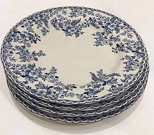 Earthenware Plates - Johnson Brothers England Devon Cottage Dinner Plates | Set of 4 | 10.25