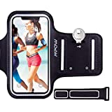 Mpow Running Armband for iPhone 8/7/6s/6, Sweatproof iPhone Armband with Running Earphone and Key Holder and Extension Strap, Suitable for iPhone 8/7/ 6S/ 6 Up to 4.7 Inches