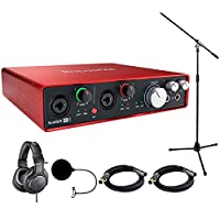 Focusrite Scarlett 6i6 USB Audio Interface (2nd Generation) includes Bonus Audio-Technica Professional Monitor Headphones and More