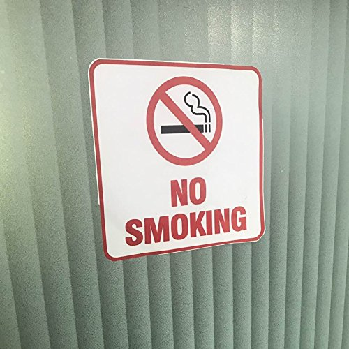4 Pack Self Adhesive No Smoking Sign Vinyl Decal Sticker