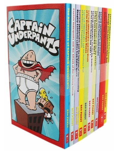 Captain Underpants 10 Book Set [Pilkey, Dav] (Tapa Blanda)