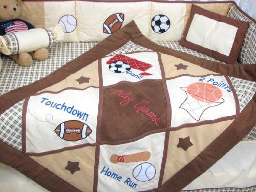 SoHo Baby Crib Bedding 10Pc Set, Game Day