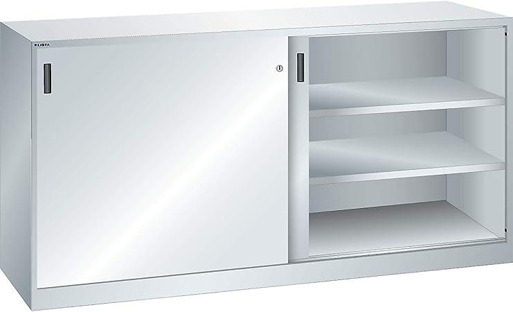 Lista Armario con vollblec htüren – 4 estantes, color gris ...