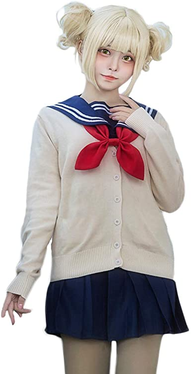 Details about  /My Hero Academia Himiko Toga Cosplay Costume Top Skirt Outfit Halloween Suit