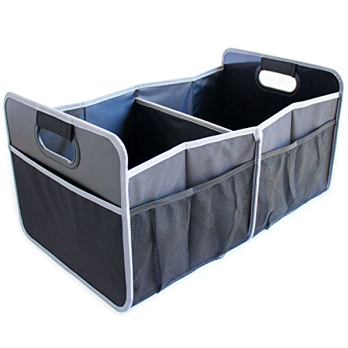 Car Trunk Organizer - Premium Storage Box with Strong Handles