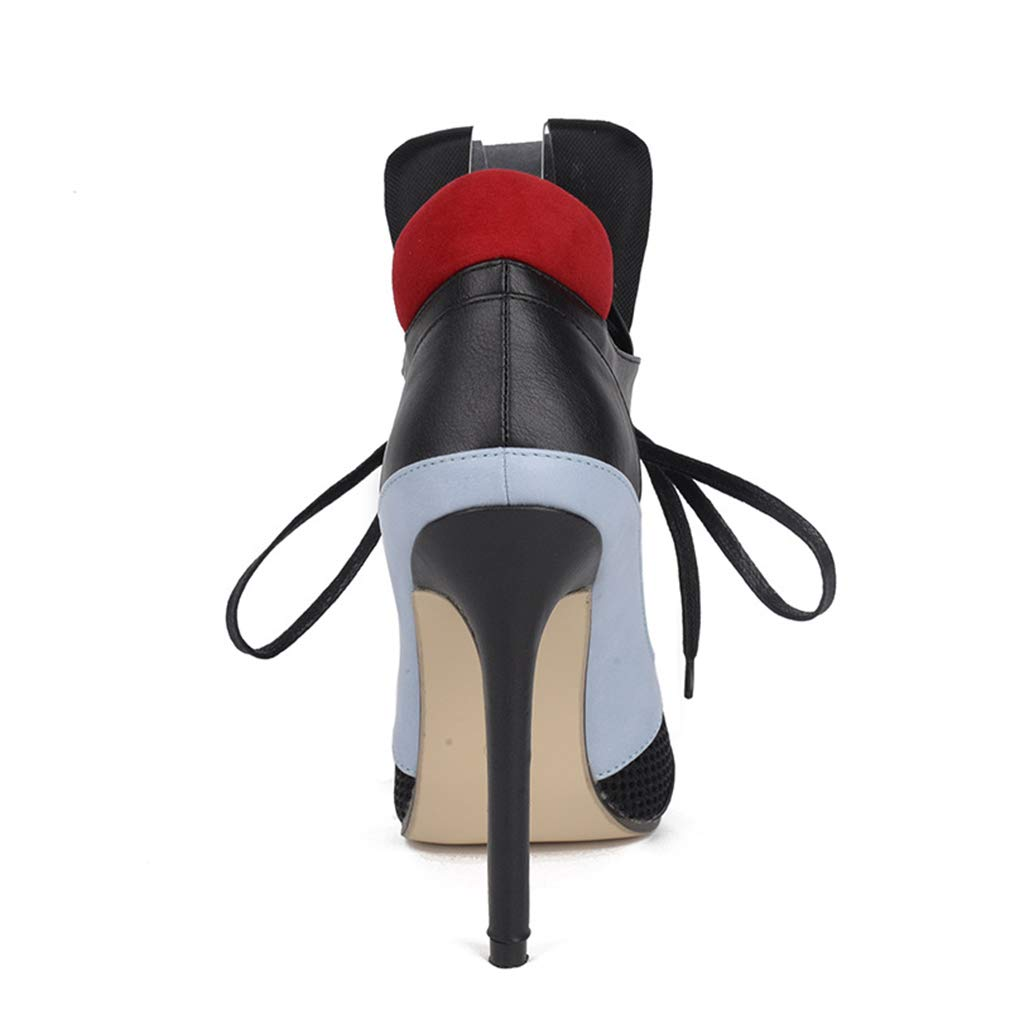 1adac35033672 Amazon.com: YXB Women's High Heel Sandals 2019 New Microfiber Mesh ...